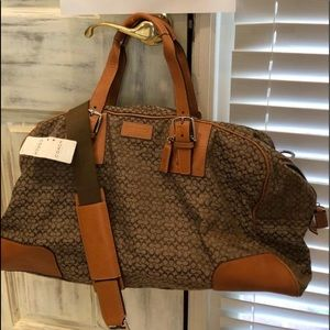 Coach old style duffle bag